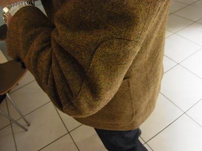 テーラーフクオカ Father's Country Jacket エルボーパッチ