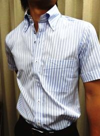 ワイシャツ 半袖 テーラーフクオカ オーダーシャツ