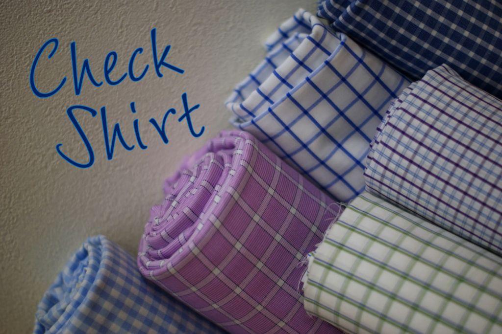 テーラーフクオカ チェックオーダーシャツCheck Shirt