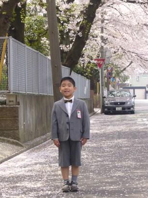 入学式に親子でお揃いのオーダースーツ-2