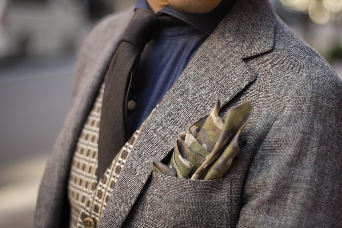 カモフラチーフ チェックジャケット