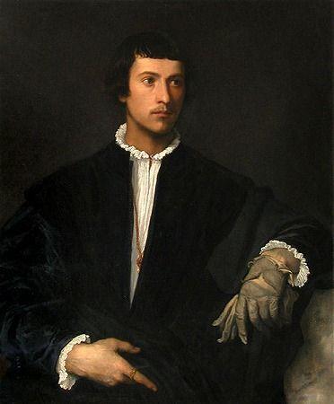 手袋の肖像画