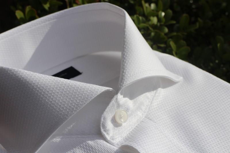 オーダーシャツ 100双 100番手双糸 パナマ ハチス