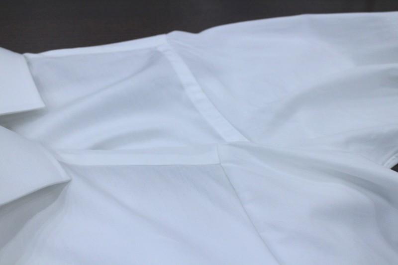 オーダーシャツ 本縫い インターロック 巻き伏せ縫い