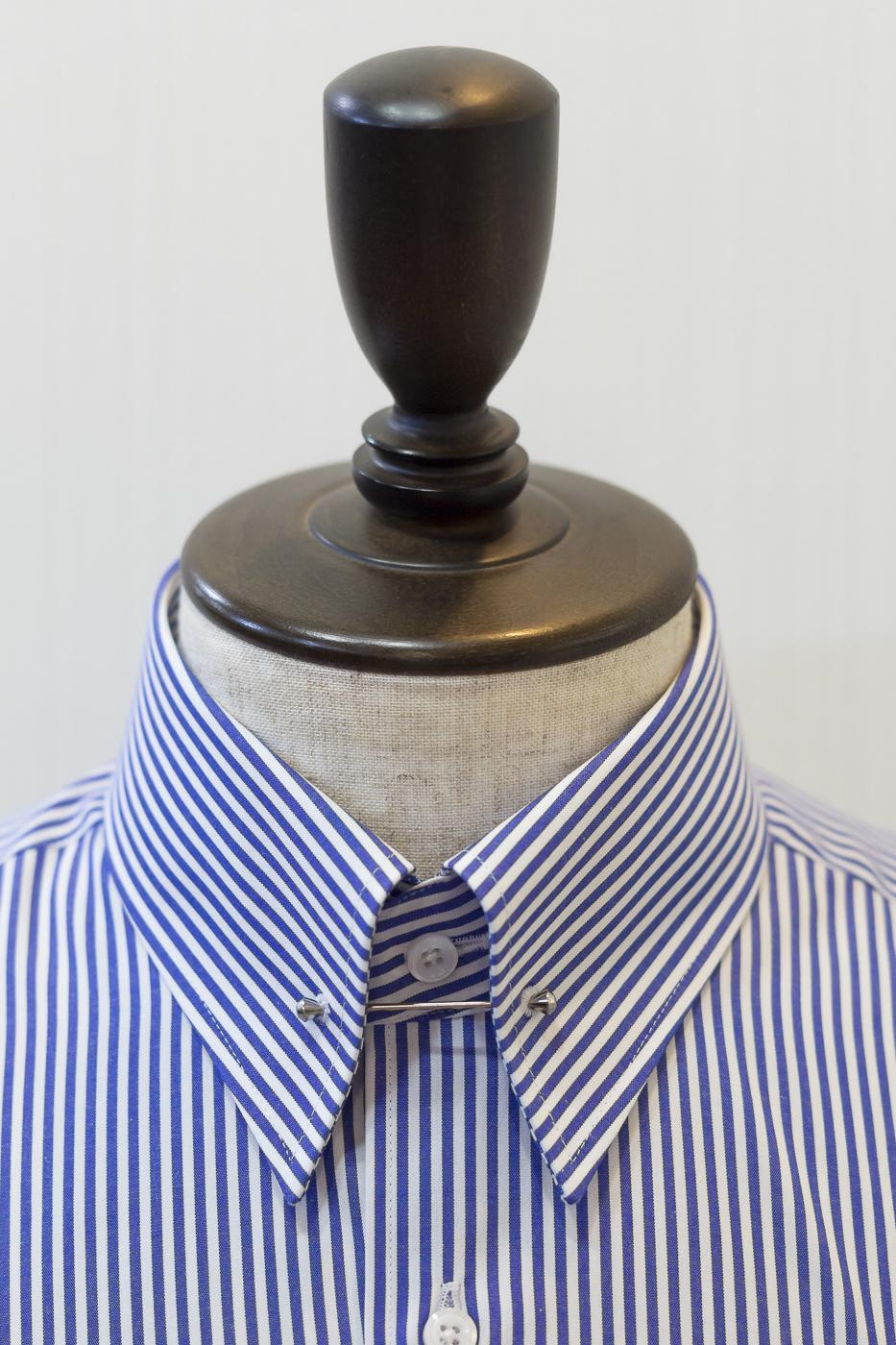 ピンホールカラー テーラーフクオカ オーダーシャツ