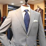 Lightgray Check Suit