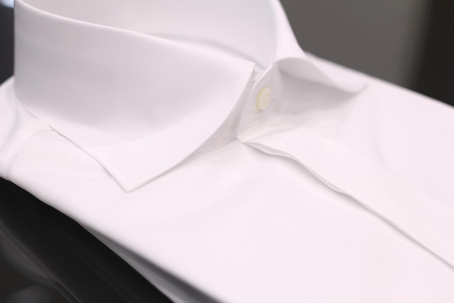 テーラーフクオカ カルロリーバ  CarloRiva オーダーシャツ shirt shirting ワイドカラー 比翼仕立て(フライフロント)