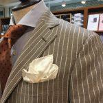 青山店おすすめストライプスーツ