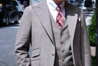 ブラウンスーツ シングルピーク