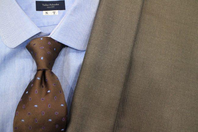 シルク混紡スーツ