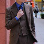 冬を彩るフランネルと私のスーツ