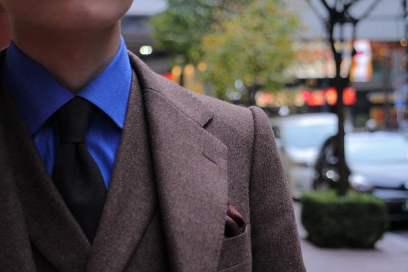 ブラウン フランネル スーツ
