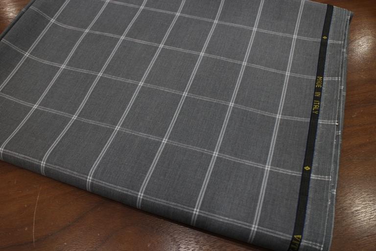 チェック Wool&Linen