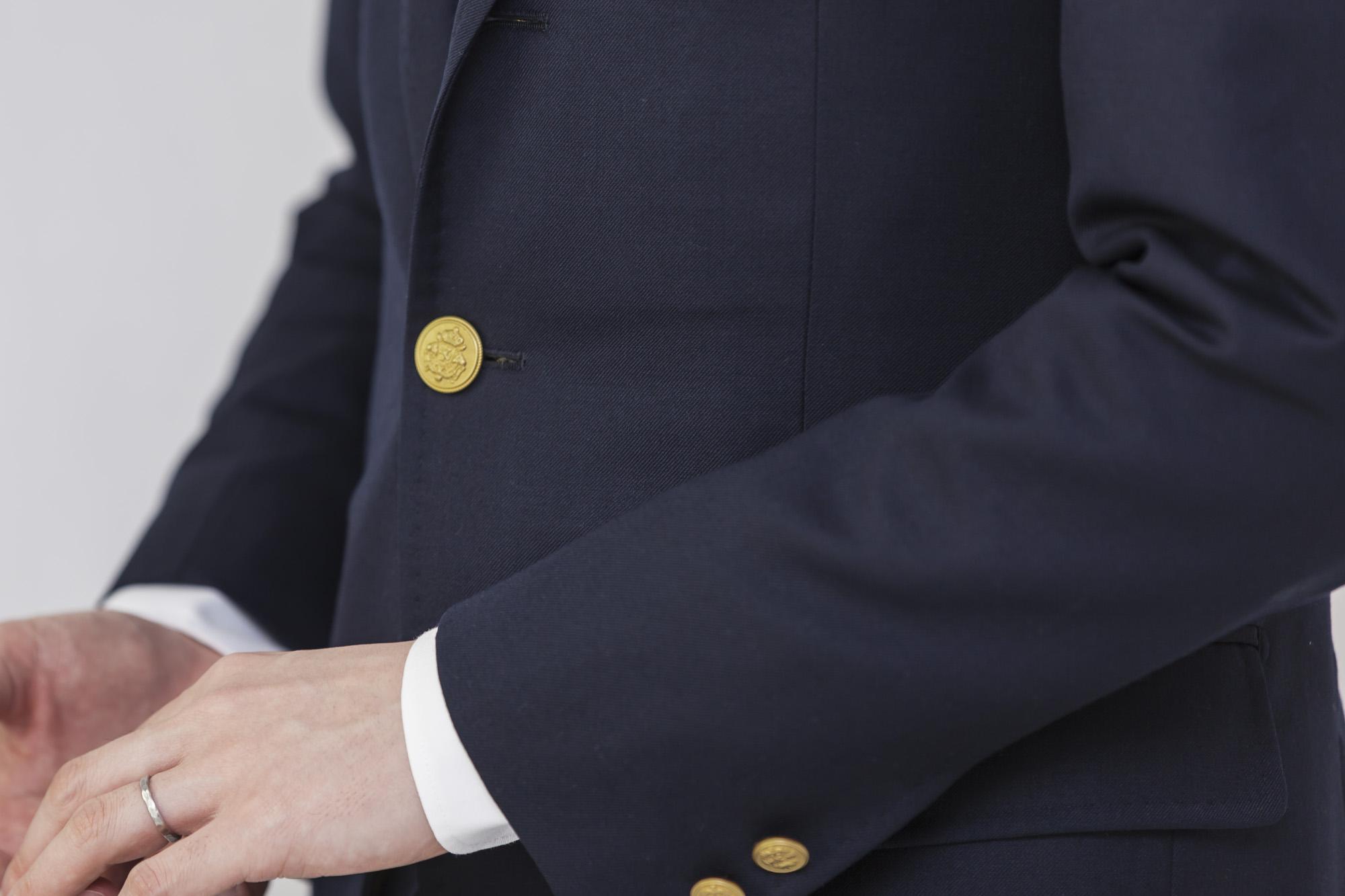 イエローゴールドメタルボタン