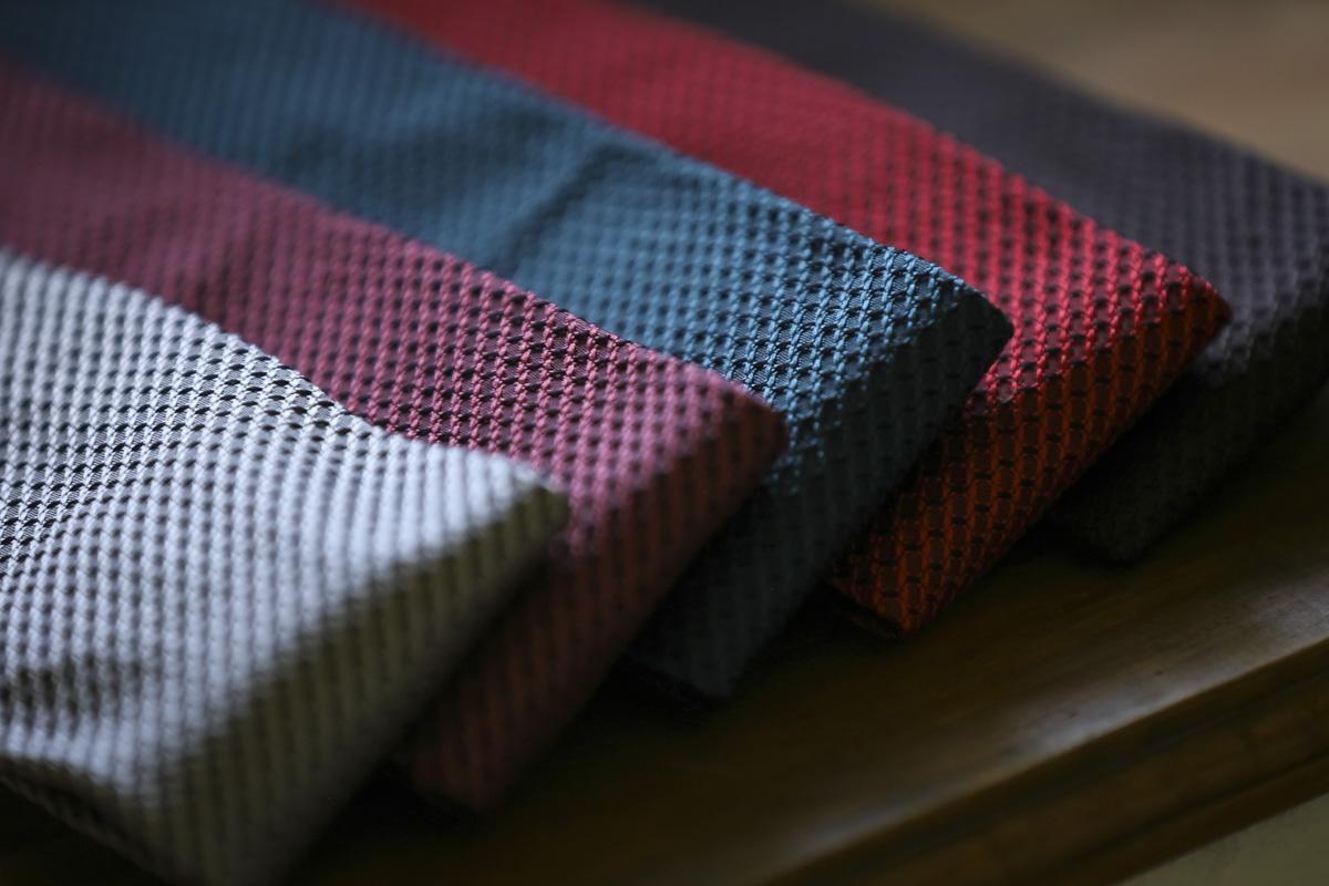 Grenadine Silk Tie グレナデン織り グレナディン シルクタイ テーラーフクオカ