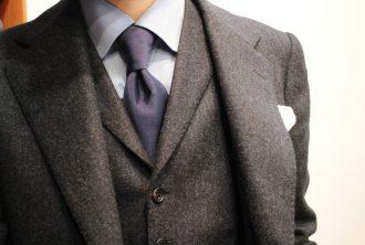 フランネルスーツ,グレー
