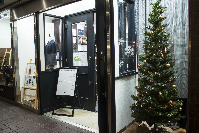 テーラーフクオカ新宿店 クリスマスツリー Xmas Christmas -4