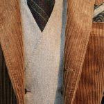 Flannel Odd Vest×Corduroy Jacket