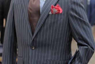 ブルーグレー,ストライプ,スーツ,幅広