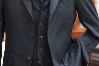 スーツ,段返り,三つボタン
