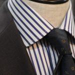 【Stripe Order Shirt】Navy&White